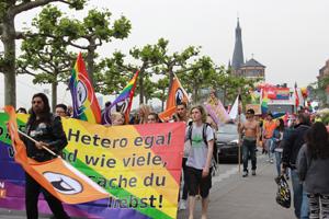Bild: CSD-Demo in Düsseldorf