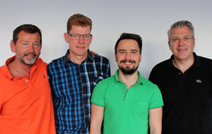 Bild: Dr. med. Bernd Schumacher-Adams, Dr. med. Robert Baumann, Dr. Alexander Baum, Dr. med. Andreas Pelzer