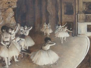"""Bild: """"Ballettprobe auf der Bühne"""" (1874) von Edgar Degas"""