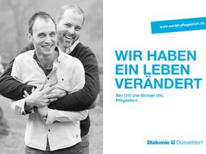 Bild: Plakatmotiv mit Männerpaar