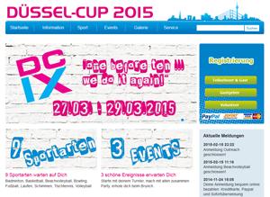 Düssel-Cup Internetseite