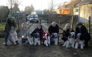 V.l.n.r.: Onja, Fayala, Bella, Helena, Galina, Sir Oscar, Filou