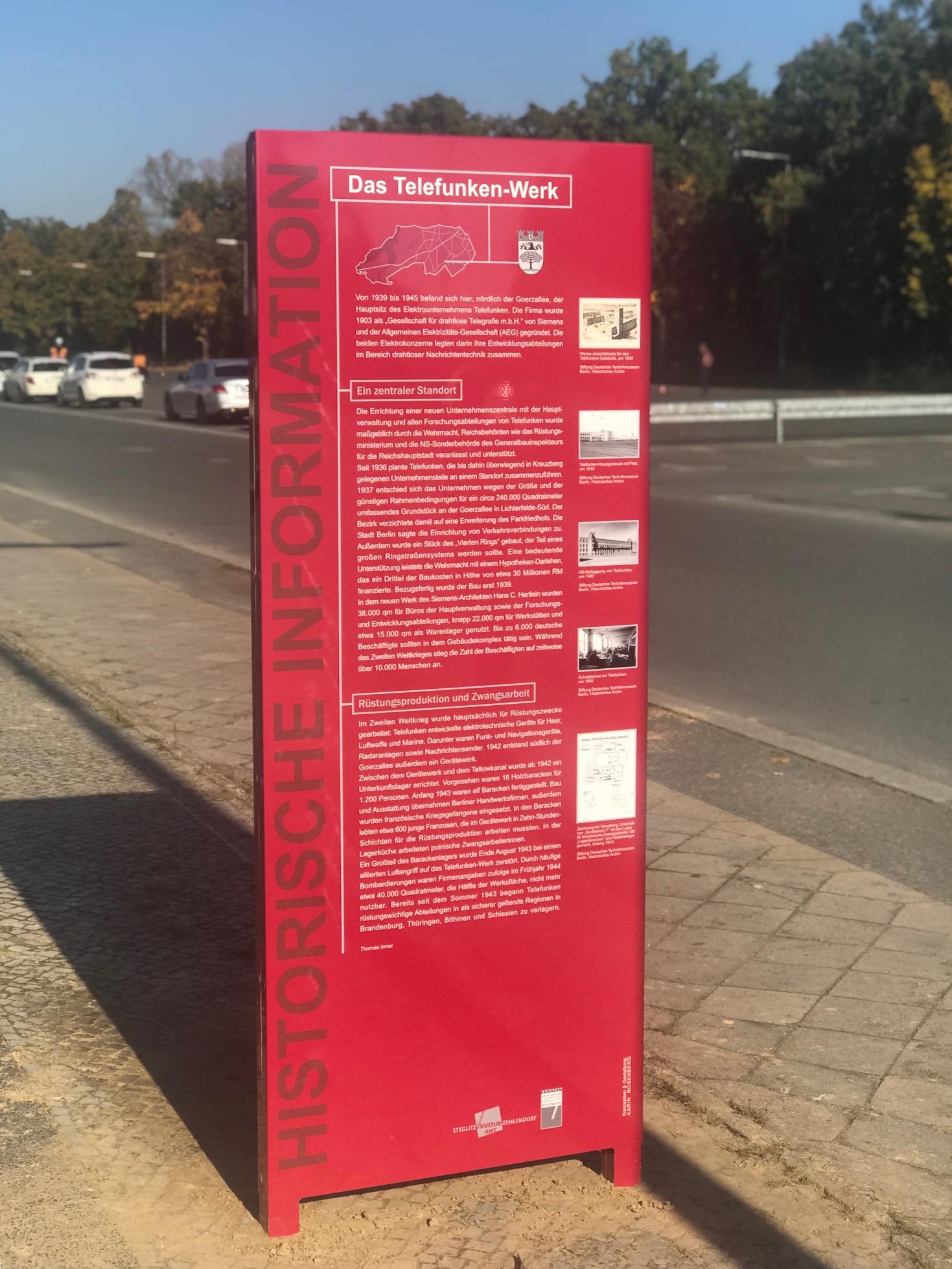 Informationsstele Telefunken Zehlendorf