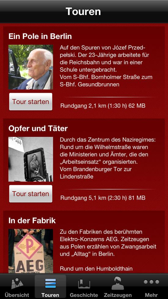 Zwangsarbeit in Berlin. Zeitzeugen-App der Berliner Geschichtswerkstatt