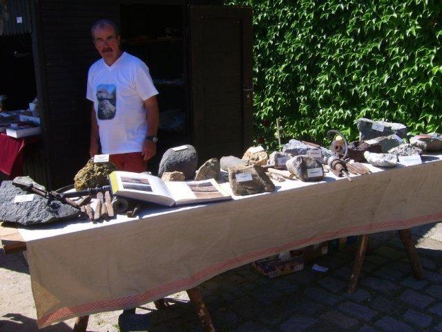 Gesteins und Werkzeugaustellung