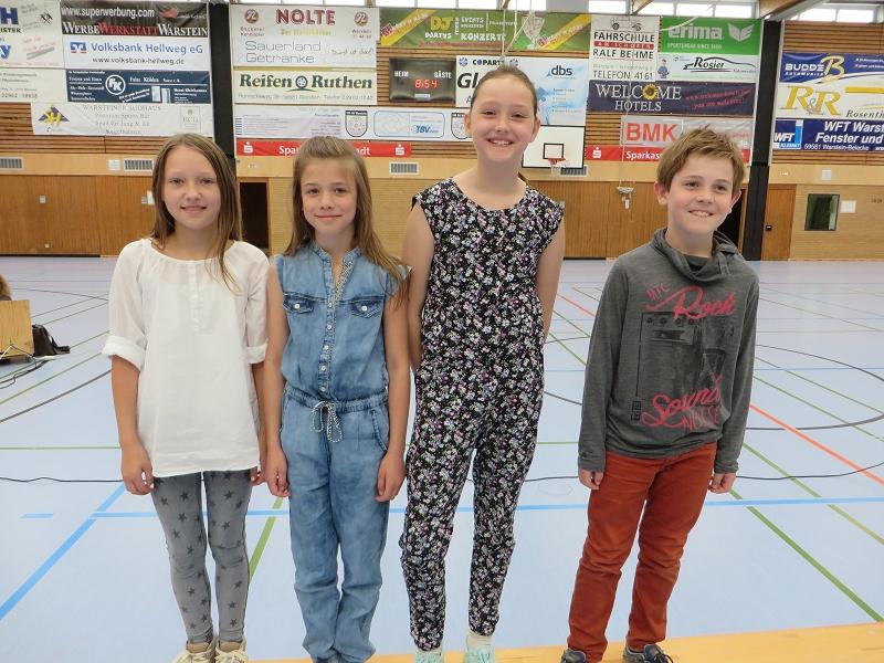 ... Violetta, Marlene, Johanna und Hannes für ihren täglichen Einsatz zur Bereitstellung unserer Schulmilch