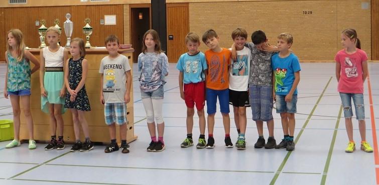 ... unserer Schulstaffel zu einem tollen 2. Platz beim Staffellauf der Grundschulen