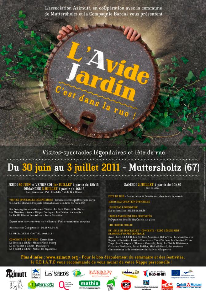 """Duo """"Contes à la Noix"""" à l'""""Avide Jardin"""" de Muttersholtz (Juillet 2011)"""