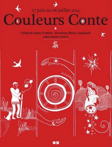 """Interventions contées au festival """"Couleurs conte"""" de Strasbourg (juillet 2014)"""