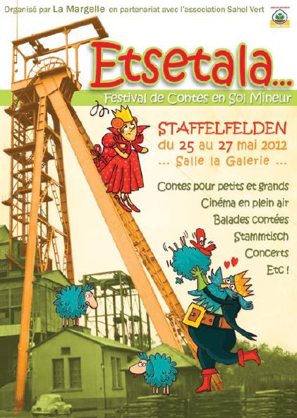 """""""La Danse des Parapluies"""" à """"Etsetala"""", festival de contes en sol mineur, Staffelfelden (mai 2012)"""