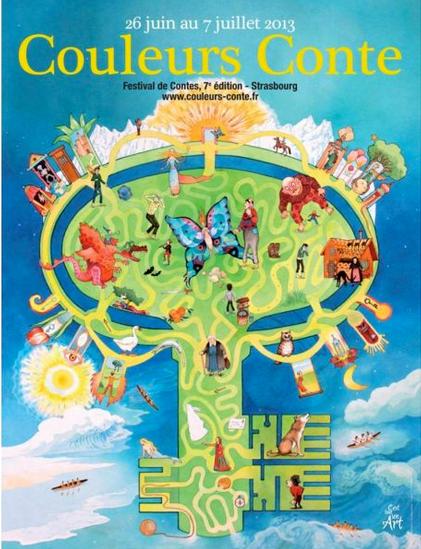 """interventions contées à """"Couleur contes"""", festival de contes à Strasbourg (juillet 2013)"""