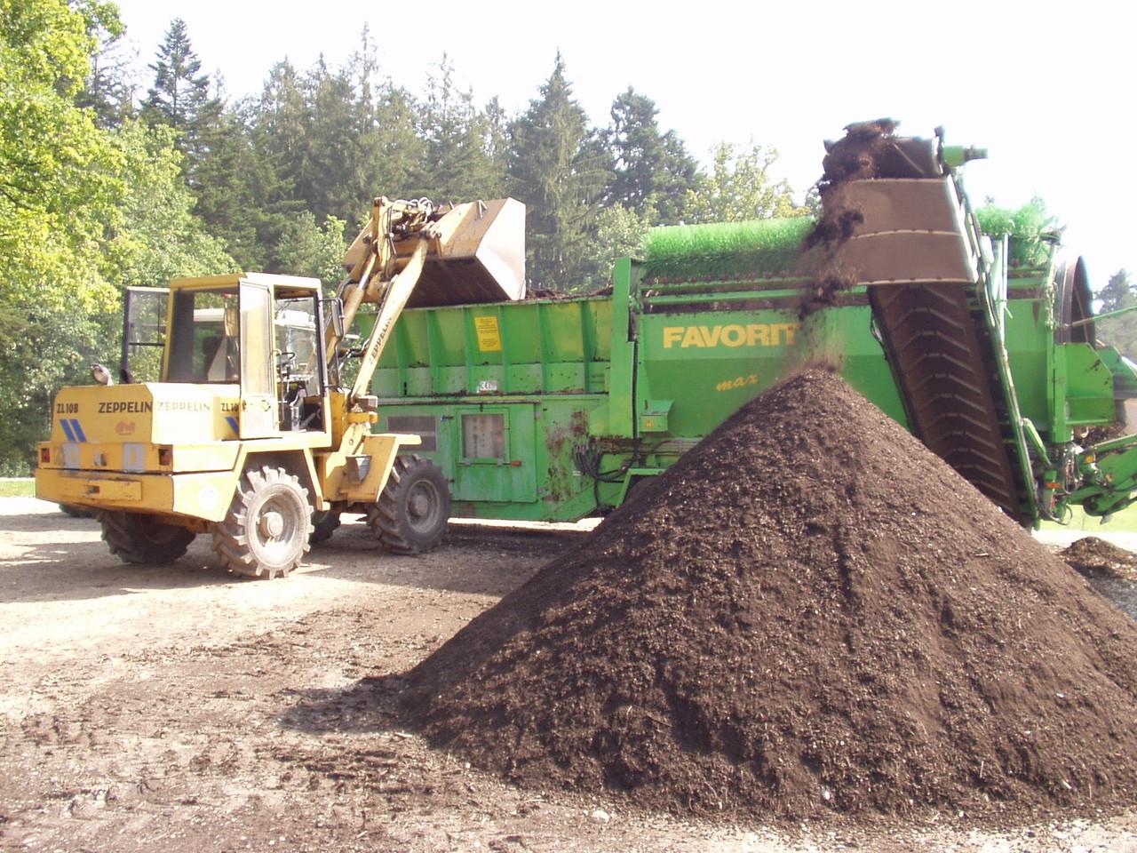 Kompost sieben