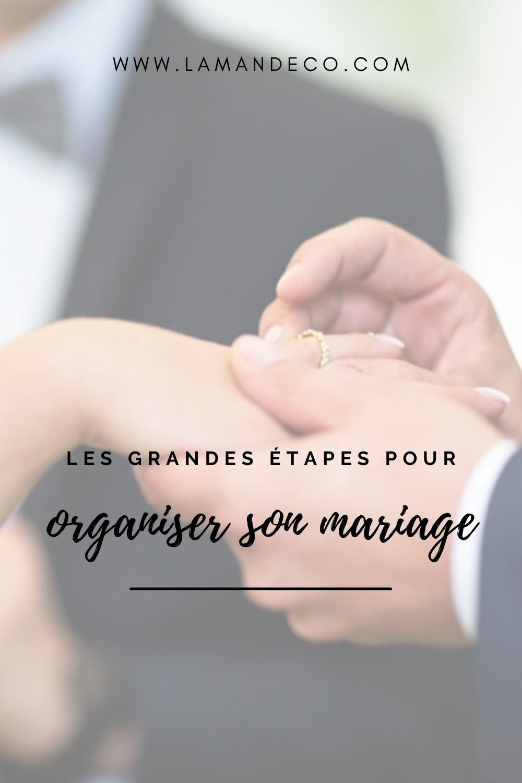 Les grandes étapes pour organiser son mariage