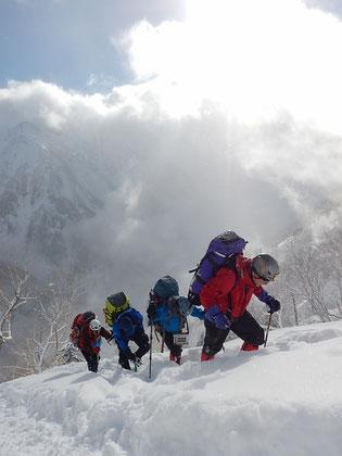 槍ヶ岳2017年1月1日 写真
