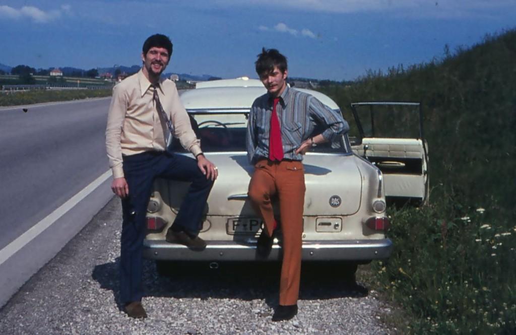 Autopanne  1970 /  Westautobahn-Amstetten-Österreich
