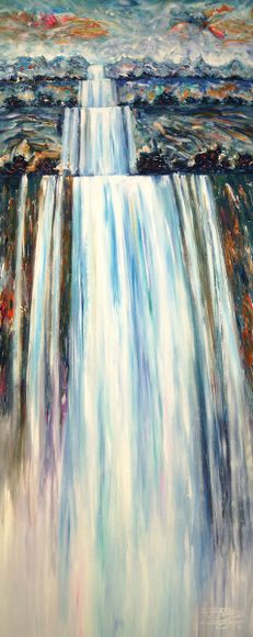 Stick: Mystery Waterfall 1  / SOLD, 200 x 80 cm