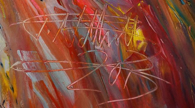 Großes Original, signiert und datiert vom Kunstmaler Peter Nottrott.