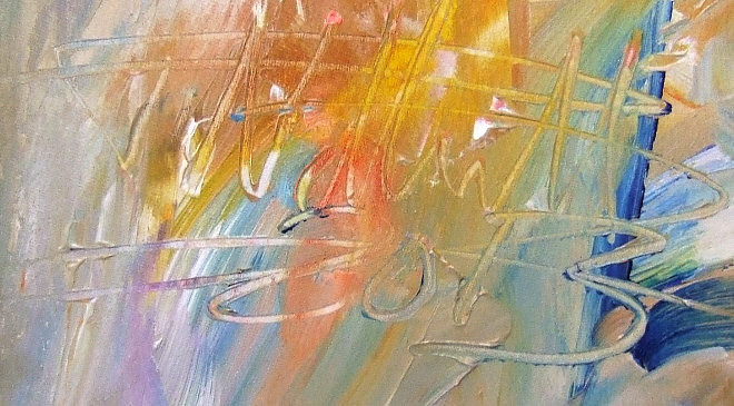 Riesiges, abstraktes Bild. Original Acrylgemälde auf Leinwand