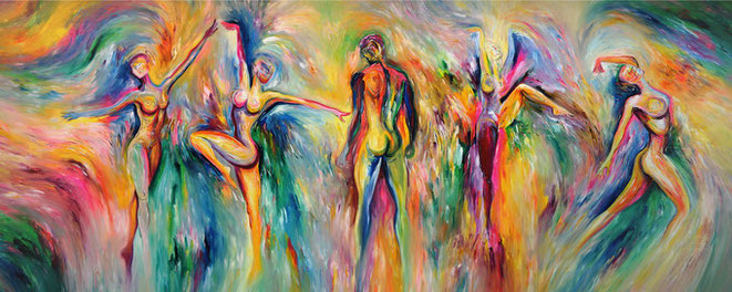 Großformat, Tanz, Gemälde,  XL,