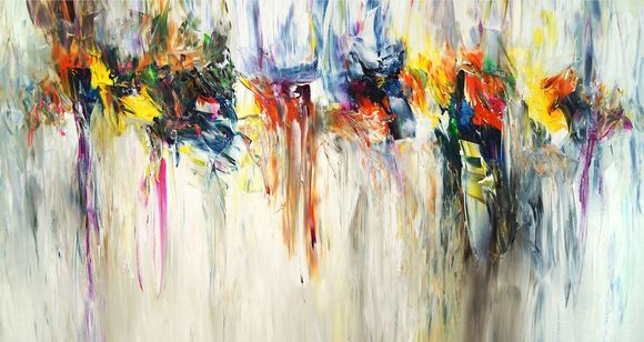 Abstraktes Acrylgemälde