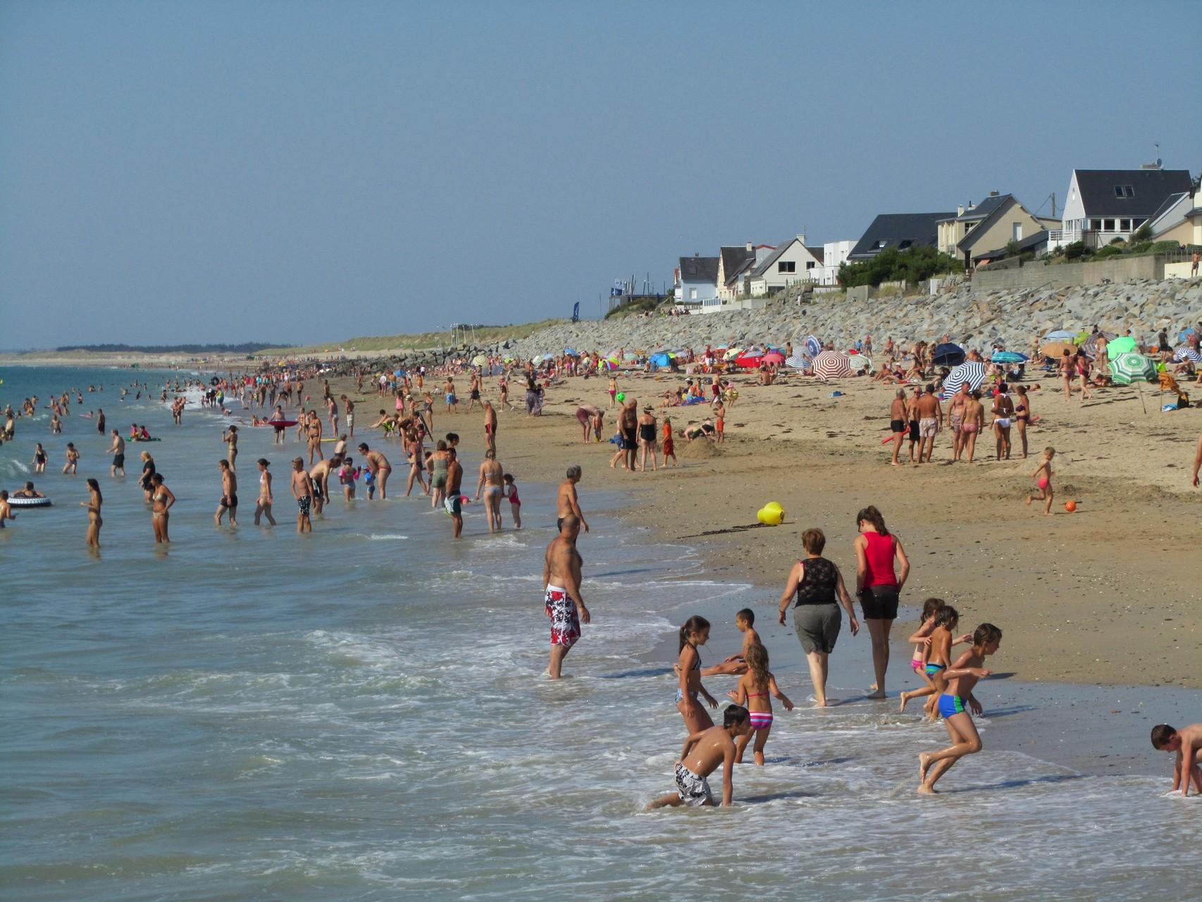 plage de Saint Martin de Bréhal