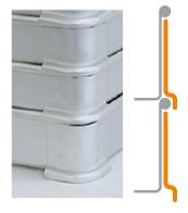 システムバット(餃子)の足の形状