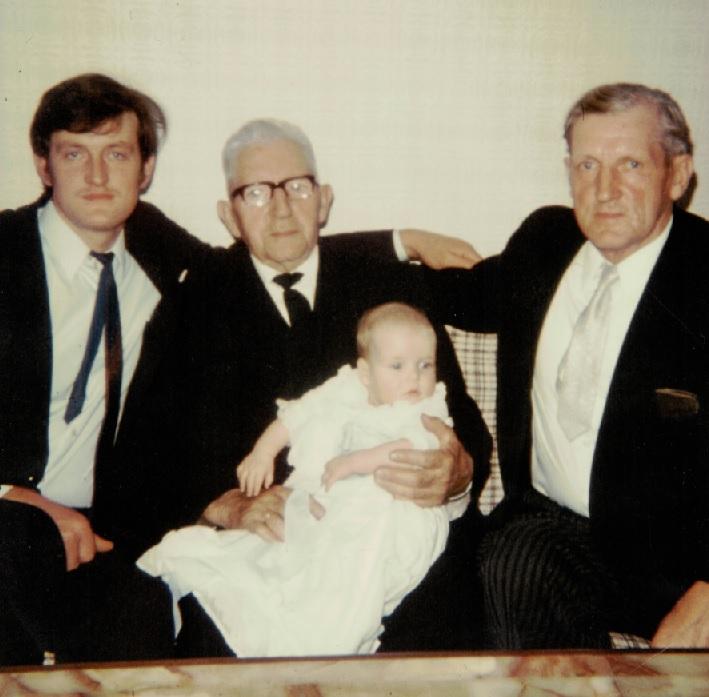 v. l. Jürgen, Hans-Jürgen, Björn Volquard, Klaus Volquard Sievers; 1971