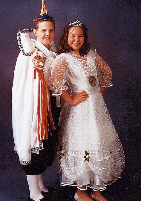 1. Landauer Kinderprinzenpaar - Tina I. und Christian I.