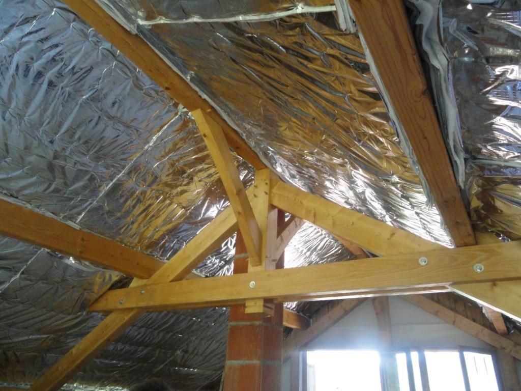 2012 : On isole  la toiture ......