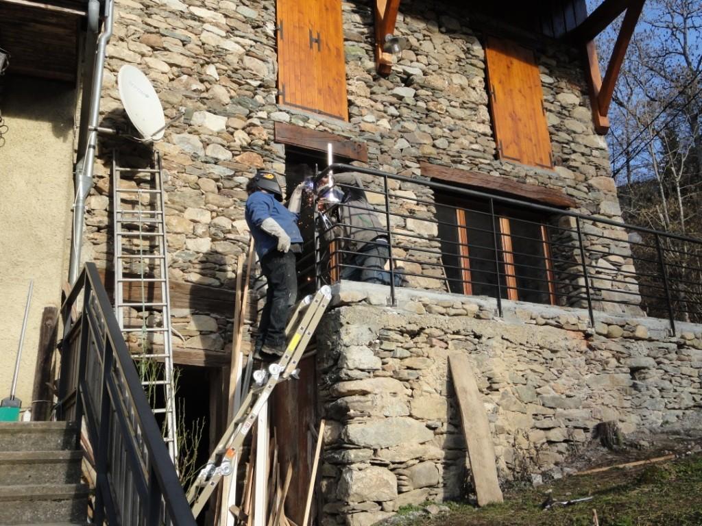 2014 : Réalisation du balcon entrée Sud