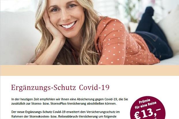 Neuer PDF-Flyer für die Zusatz-Reiseversicherung Covid-19