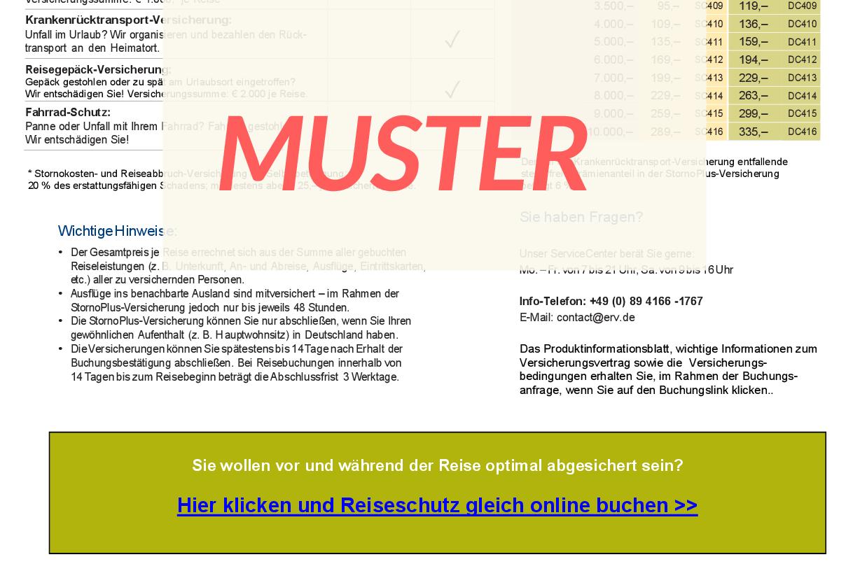 Verkauf Reiseschutz Für Urlaub In Deutschland