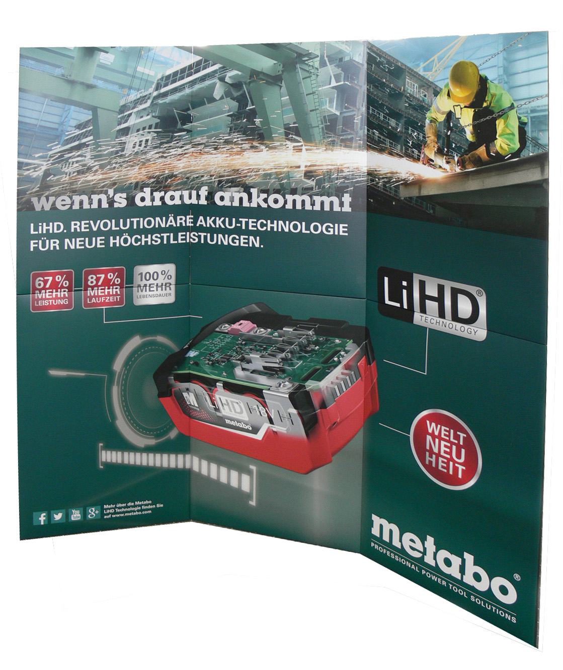 Ruck-Zuckwand Metabo