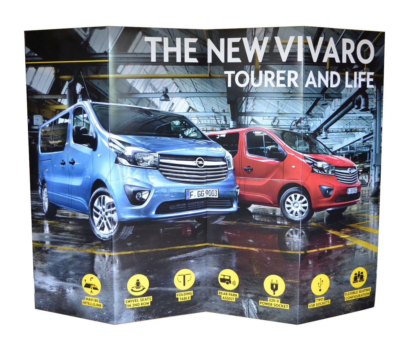 Trennwand aus Pappe Opel Vivaro