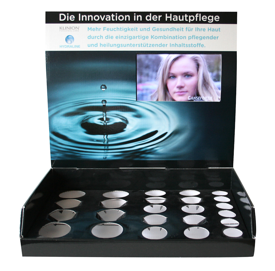 Thekendisplay mit Video-Modul