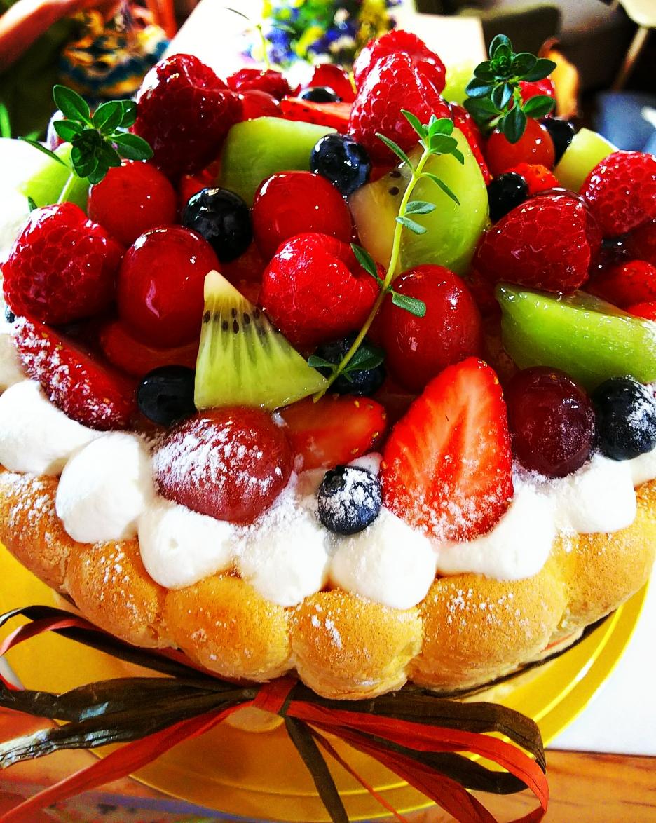 花かごケーキ