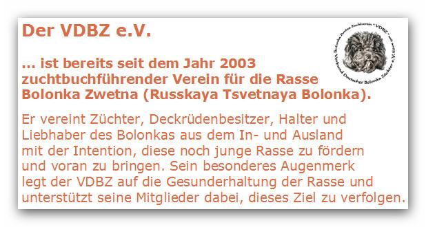 VDBZ - Verbund Deutscher Bolonka Züchter