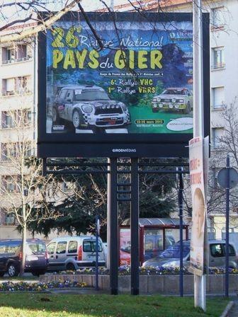 Le Rallye du Pays du Gier encore à l'honneur à Saint-Chamond !