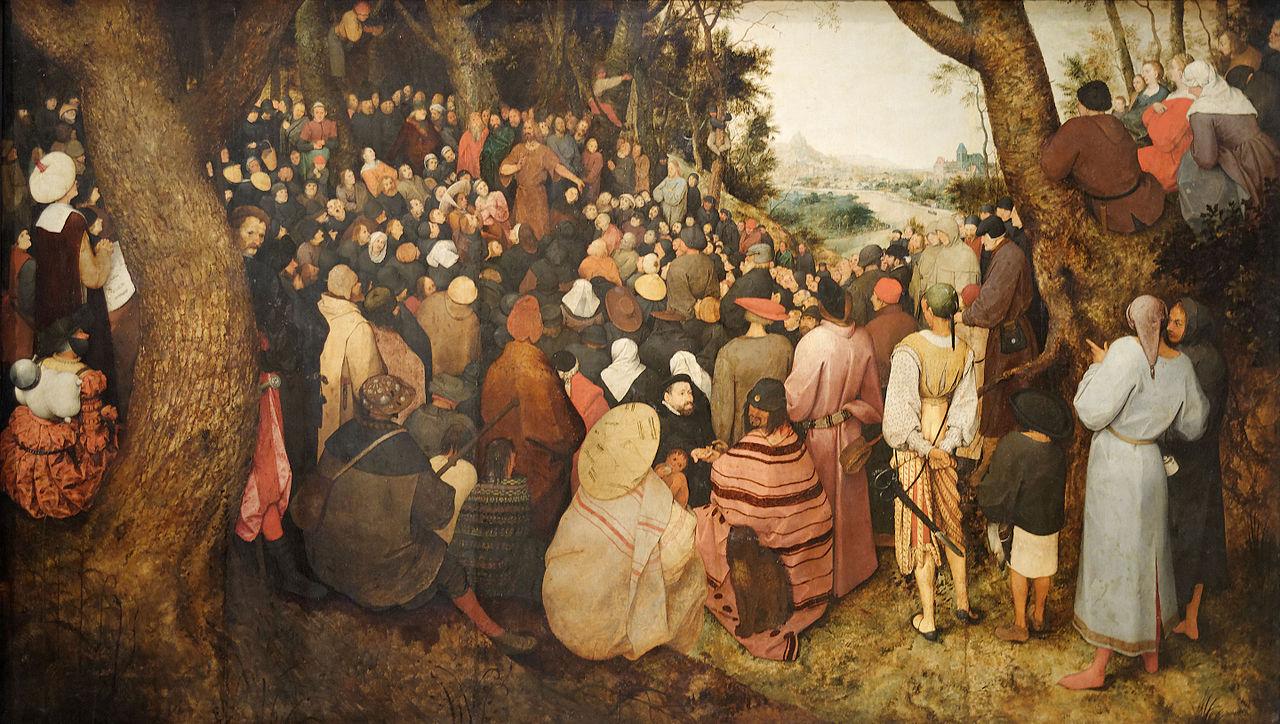 ピーテル・ブリューゲル「洗礼者聖ヨハネの説教」、1566年、ブタペスト国立西洋美術館