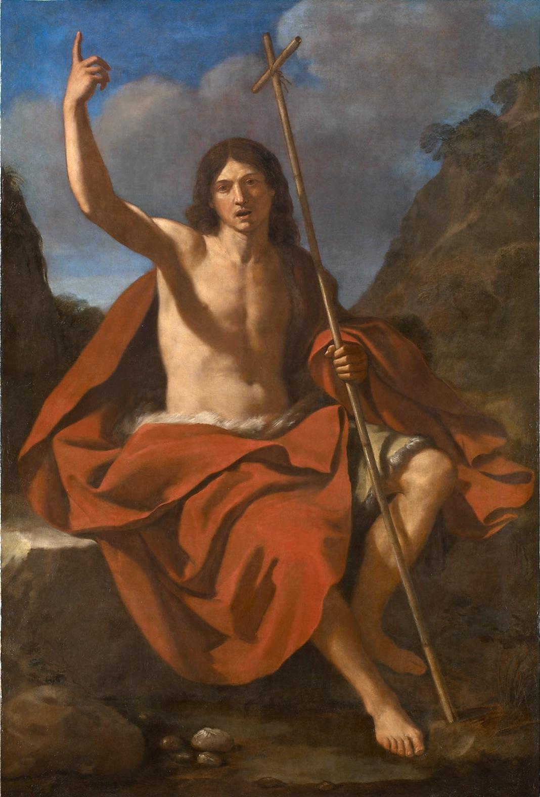 ジョヴァンニ・フランチェスコ・グエルチーノ「洗礼者聖ヨハネ」、1641年、ウィーン美術史美術館