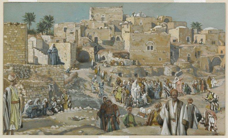 ジェームズ・ティソ「エルサレムへの途上であちこちの村を通って行く」、1886―1894年、ブルックリン美術館所蔵