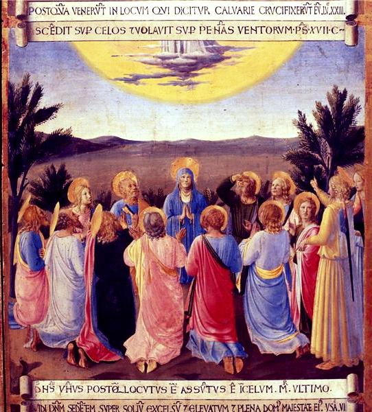 フラ・アンジェリコ「昇天」(アルマーディオ・デッラ・アルジェンティ)、1450年頃、サン・マルコ国立美術館所蔵