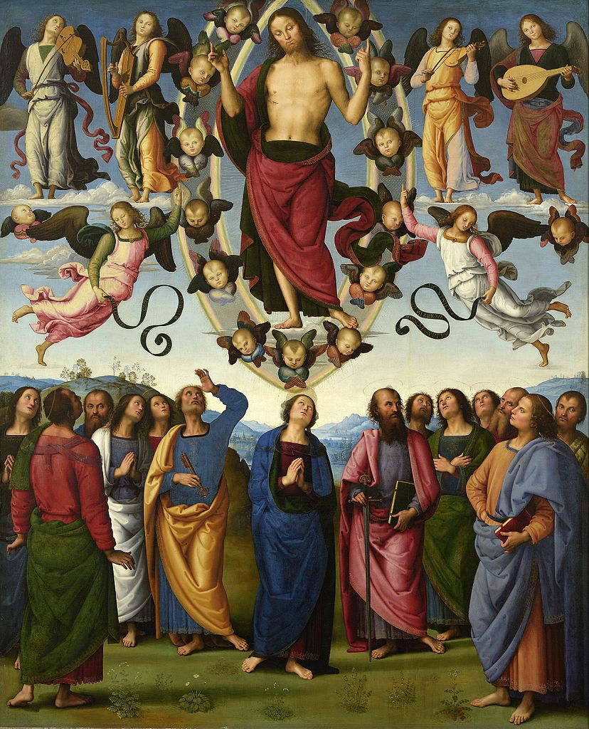 ピエトロ・ペルジーノ「昇天」、1495―98年、リヨン美術館所蔵