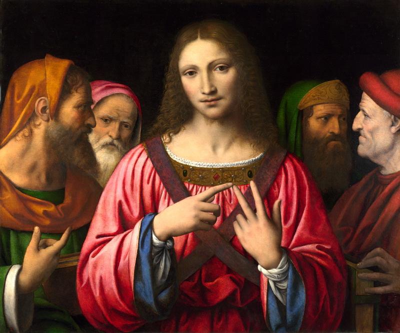 ベルナルディーノ・ルイーニ「学者たちの真ん中のイエス」、ナショナル・ギャラリー(ロンドン)