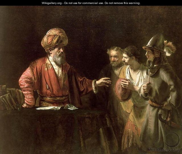 ウィレム・ドロステ「無慈悲な家来」、1655年、ウォレス・コレクション