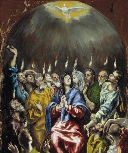 エル・グレコ「聖霊降臨」、1604-14年頃、プラド美術館所蔵