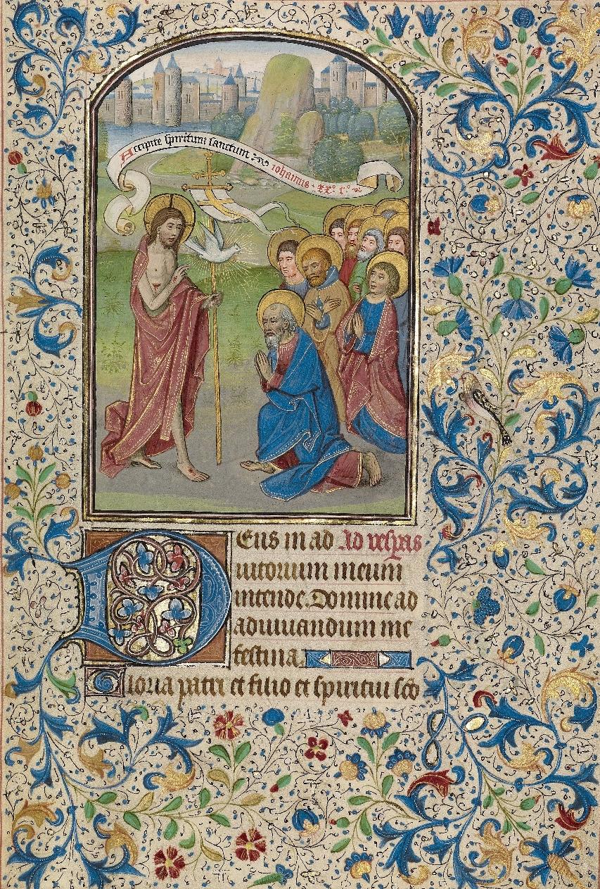 ウィレム・フレーラント「使徒たちの派遣」、1460年代初頭、ゲティ・センター所蔵