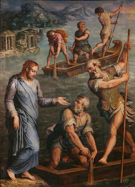 ジョルジョ・ヴァザーリ「聖ペトロと聖アンデレの召し出し」、1563年、バディア・フィオレンティーナ教会