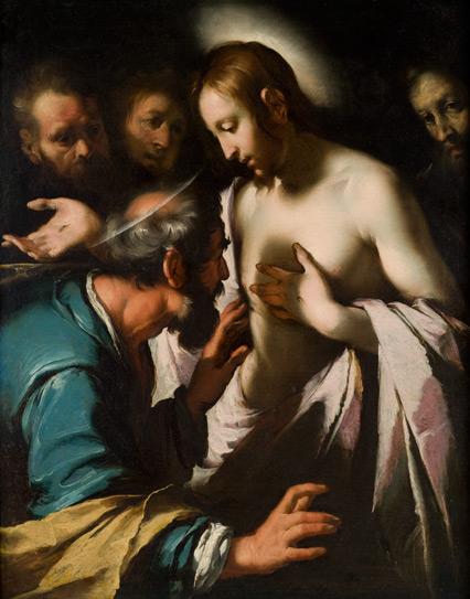 ベルナルド・ストロッツィ「疑い深いトマス」、1620年頃、ポンセ美術館所蔵