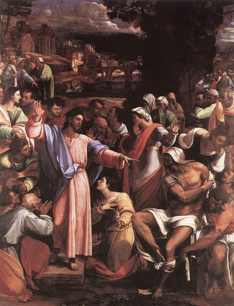 セバスチアーノ・デル・ピオムボ「キリストの復活」1517ー1519年、ロンドン国立美術館所蔵